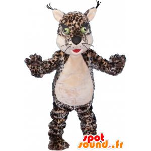 Tiger-Maskottchen, gefleckten Leoparden mit grünen Augen - MASFR032488 - Tiger Maskottchen