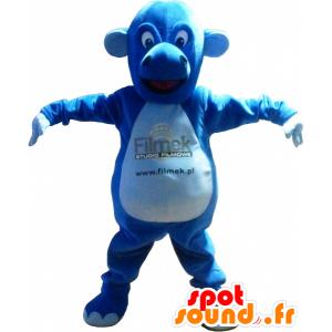La mascota azul criatura, dragón, lindo y regordete - MASFR032499 - Mascota del dragón