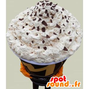 Mascotte de cappuccino géant. Mascotte de café - MASFR032511 - Mascotte alimentaires