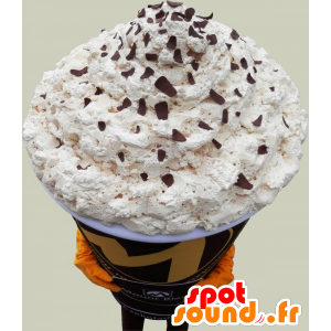 Jättiläinen cappuccino maskotti. maskotti Kahvi - MASFR032511 - ruoka maskotti