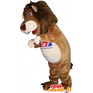Löwe Maskottchen, beige und weißer Tiger - MASFR032514 - Tiger Maskottchen