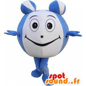 Blu e verde mascotte di pesce con un grande naso e il cappello - MASFR032525 - Pesce mascotte