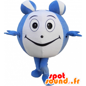 Blue and green fish mascot with a big nose and hat - MASFR032525 - Mascots fish