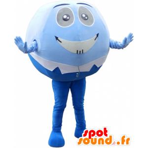 Blau Schneemann Maskottchen und weiß, und rundum Spaß - MASFR032549 - Menschliche Maskottchen