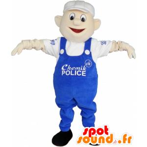 Mascotte operaio, pittore uomo in tuta - MASFR032552 - Umani mascotte