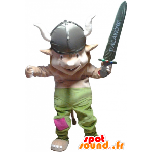 Leprechaun mascot, gnome dressed in Viking - MASFR032553 - Christmas mascots