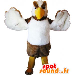 Maskotka sęp, zastraszenia niebieski i biały ptak - MASFR032555 - ptaki Mascot