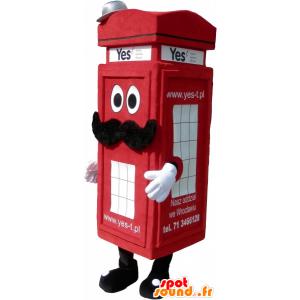 Μασκότ κόκκινο Λονδίνο τύπου καμπίνα τηλέφωνο