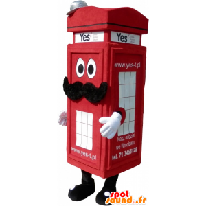 Mascotte rode Londen telefoon cabine-type - MASFR032561 - mascottes telefoons