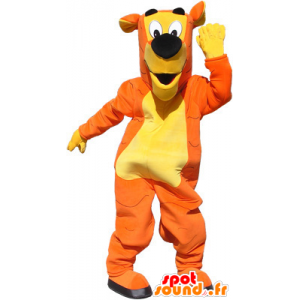Arancione della mascotte della tigre, giallo e nero, senza graffi - MASFR032568 - Mascotte tigre