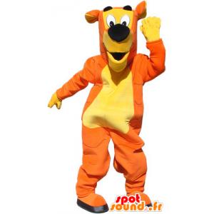 Orange Tiger-Maskottchen, gelb und schwarz, keine Kratzer - MASFR032568 - Tiger Maskottchen