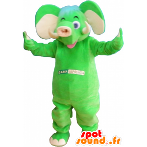 Verde elefante mascotte appariscente - MASFR032577 - Mascotte elefante