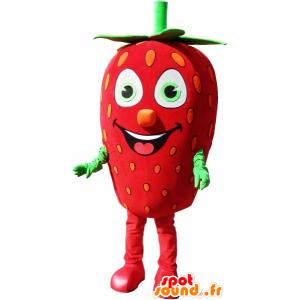 Mascotte de fraise géante, costume de fraise - MASFR032582 - Mascotte de fruits