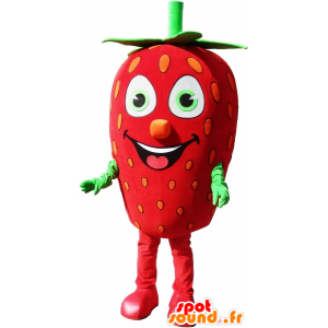 Mascote gigante de morango, traje de morango - MASFR032582 - frutas Mascot