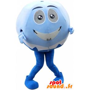 Mascot blue and white ball. Mascot head round - MASFR032587 - Sports mascot