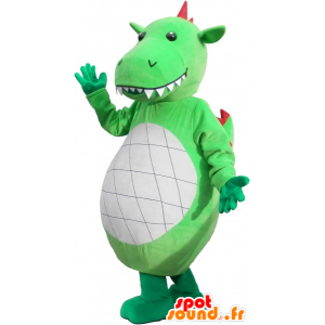 Gigante e impressionante mascotte dinosauro verde - MASFR032590 - Dinosauro mascotte