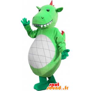 Obra a působivé zelený dinosaurus maskot - MASFR032590 - Dinosaur Maskot