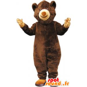 Mascot brown teddy bear - MASFR032592 - Bear mascot
