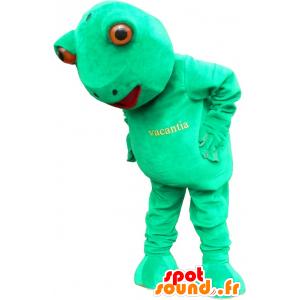 Mascotte verde rana, gigante e divertimento - MASFR032596 - Rana mascotte