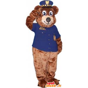 Brown bear mascot dressed as sheriff - MASFR032599 - Bear mascot