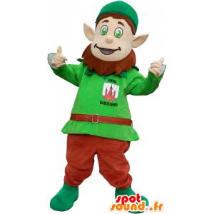 Kobold Maskottchen mit den spitzen Ohren und einer Kappe - MASFR032600 - Weihnachten-Maskottchen