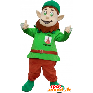 Mascote leprechaun com orelhas pontudas e um chapéu - MASFR032600 - Mascotes Natal