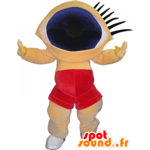 Funny snowman mascot head with huge eyes - MASFR032604 - Human mascots