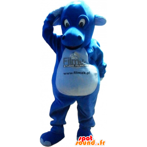 Blue Dragon maskot, gigantiske og imponerende - MASFR032621 - dragon maskot