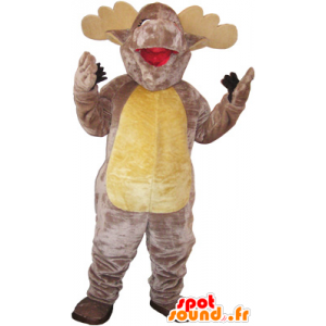 Of brown and beige momentum mascot realistic - MASFR032622 - Animals of the forest