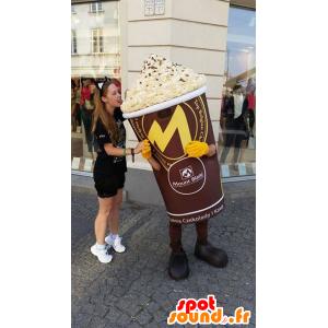 Mascotte de pot de glace géant - MASFR032628 - Mascottes Fast-Food