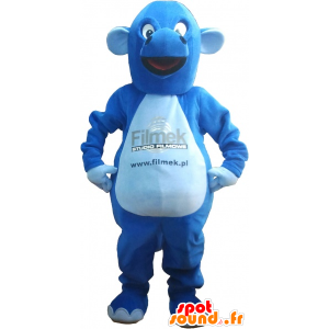 Giant blue dragon mascot - MASFR032635 - Dragon mascot