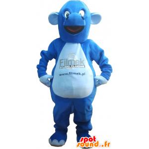 Riesigen blauen Drachen-Maskottchen - MASFR032635 - Dragon-Maskottchen
