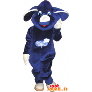 Mascot muito bonito elefante azul roxo e branco - MASFR032636 - Elephant Mascot