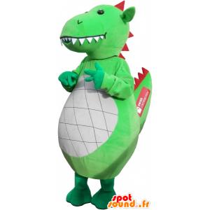 Olbrzym i imponujący zielony smok maskotka - MASFR032638 - smok Mascot