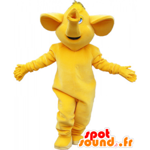 Alle gele reusachtige olifant mascotte - MASFR032639 - Elephant Mascot