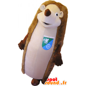 Mascot brown and beige hedgehog giant - MASFR032648 - Mascots Hedgehog