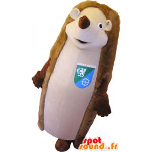 Mascotte marrone e beige gigante dei porcospini - MASFR032648 - Mascotte Hedgehog