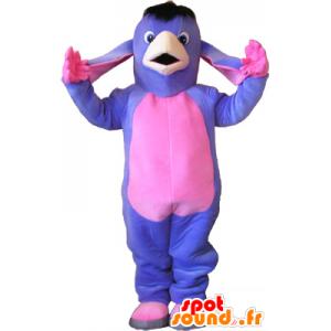 Μασκότ μωβ και ροζ γάιδαρο. μουλάρι μασκότ - MASFR032654 - ζώα