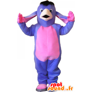 Maskotka purpurowe i różowe osła. muł maskotka - MASFR032654 - żywy inwentarz