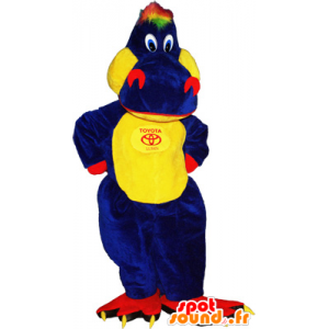 κροκοδείλια μασκότ γιγαντιαίο πολύχρωμο και αστεία - MASFR032656 - Κροκόδειλος Μασκότ