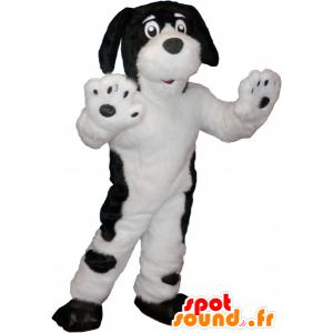 Weißer Hund Maskottchen mit schwarzen Flecken - MASFR032658 - Hund-Maskottchen