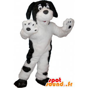 White dog mascot with black spots - MASFR032658 - Dog mascots