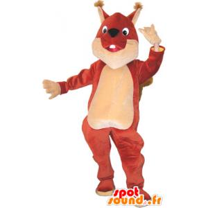 La mascota gigante de color marrón amarillento y la ardilla - MASFR032660 - Ardilla de mascotas