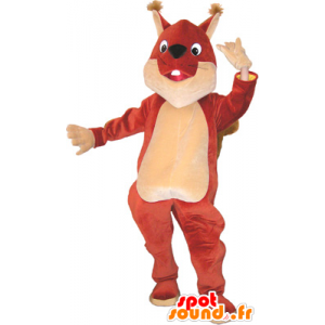 Mascot Riesen braun und beige Eichhörnchen - MASFR032660 - Maskottchen Eichhörnchen