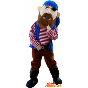 Mascotte de pirate à l'air farouche - MASFR032661 - Mascottes de Pirates