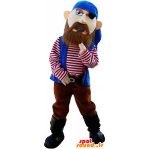 Pirate mascotte tot felle kijken - MASFR032661 - mascottes Pirates
