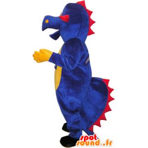 Violetti dinosaurus maskotti. jättiläinen dinosaurus - MASFR032663 - Dinosaur Mascot