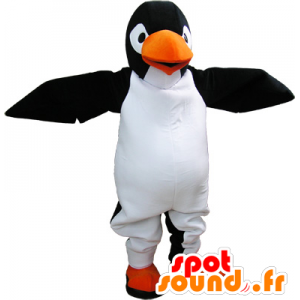 Black and white penguin mascot realistic giant - MASFR032666 - Penguin mascots