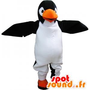 Mascotte de pinguin noir et blanc géant très réaliste - MASFR032666 - Mascottes Pingouin