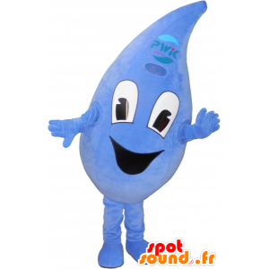 Mascot drop, blue, giant - MASFR032667 - Mascots unclassified